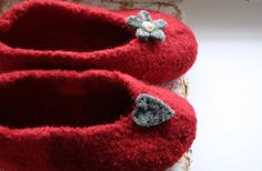 Hand knit felt socks slippers ankle socks by woolpleasure on Etsy, $34.99
