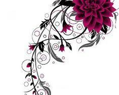 Negative Space Tattoos | Flower tattoo design by inkyMel – Sketch Club