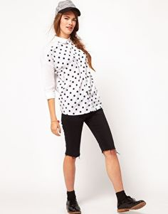 White Chocoolate Polka Dot Shirt #polkadots #style
