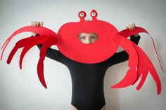 Crab mask paper craft for kids