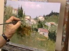 "Step by step painting demo ""Houses on a Tuscan hill"" PART 2 : ""The delet..."