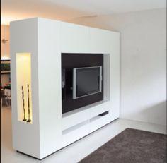 Roomdivider, ideetje voor op zolder New Living Room, Home, Living Room Tv, Walls Room, Mens Bedroom, Living Room Remodel, Home Bedroom, Bedroom Divider, Modern Bedroom