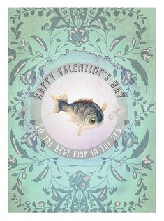 Fish in the Sea 5x7 Valentine's Card