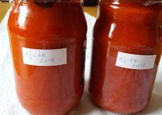 (5) Ajvár télire | Rózsamama konyhája receptje - Cookpad receptek Ketchup, Hot Sauce Bottles, Wine, Drinks, Cooking, Food, House, Ideas, Red Peppers