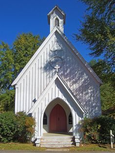 Luka, Mississippi. So many churches, mostly Episcopalian, were built in this simple, but lovely Carpenter Gothic style in the 1800s.