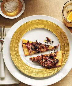 Mushroom Pizzette   What's more wonderful than an evening around the table with good friends? This easy-to-execute game plan ensures that the meal will be delicious, the company delightful, and the host (that's you) relaxed, happy, and nowhere near the kitchen.