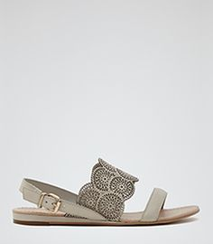 Cordoba Bone Laser-cut Flat Sandals - REISS