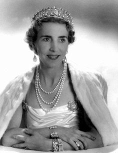 This here is Queen Ingrid of Denmark.  Not a Windsor.  She died in 2000.  But HMK GV isn't a Windsor either, but he was a Saxe Coberg Gotha, grandson of HMQ Victoria.  Ingrid's mother was Princess Margaret, the daughter of the Duke of Connaught.  He was the third son of of HMQVictoria.  Not that everyone has to be a relative, but just saying that's why she is here.  Plus she was very sweet.