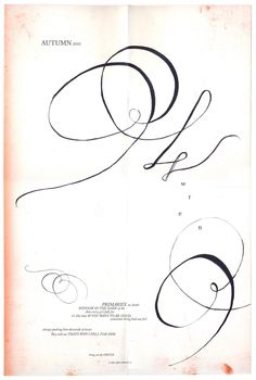 Poster by Britt Browne for Wren's Autumn Lookbook Tola, Letterpress, Printmaking, Wedding Flowers, Typography, Autumn, Wren, Handwriting, Artwork
