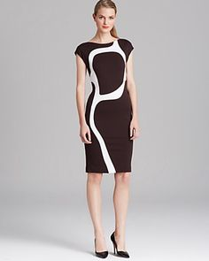 Escada Dress with Surrealist flair - Bloomingdale's