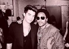 Adam Lambert and Lenny Kravitz - almost too much handsome for one photo ;)