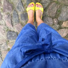 Denim playsuit and waterproof Birkenstock - the beach is calling #oneoutfitaday