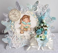 Tilda with Cozy Heart, Marianne Designs Butterfly die LR0356 https://julieprice3.wordpress.com/2016/04/06/tilda-with-cozy-heart/