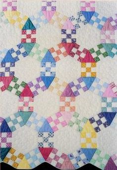 Quilt Patterns: Jack's Chain, also called Morning Glory or Rosalia Flower Garden.