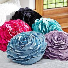 Flora Felt Pillows {pool & gold} from PB Teen