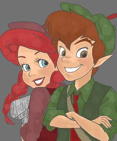 Peter and Ariel....Friends