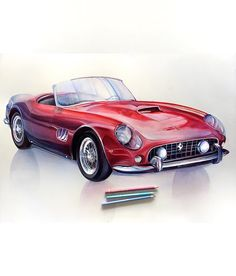 Vibrantly Colored Pencil Drawings Show Us the Colors Of The Galaxy – While some might consider colored pencils as mere art supplies for kids… Car Drawing Pencil, Pencil Drawings, Pencil Sketching, Drawing Tips, Cool Car Drawings, Colorful Drawings, Realistic Drawings, Car Tattoos, Sketch Paper