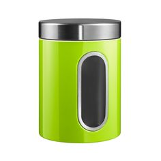 Discover+the+Wesco+Kitchen+Storage+Canister+with+Window+-+Lime+Green+at+Amara