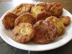 Not your ordinary green fried tomato!  Jiffy mix makes a delicious difference!