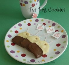 """These cute cookies have been on my """"to make"""" list for awhile. I thought they were so cute and they made me think of my Grandma Sara. She would have loved these! She loved tea and I remember, even as a kid, sitting down and drinking tea with her in her fancy china tea cups …"""