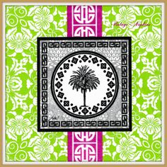 PAPER napkins for DECOUPAGE - Exotic Tree Green Pink Black  #154 by VintageNapkins on Etsy