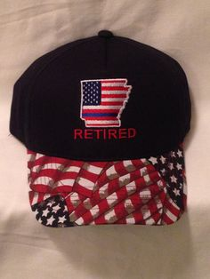 Items similar to Back The Blue Retired Police Officer Blue Lives Matter  arkansas police hats Patriotic Hats Police assessories on Etsy 8fa629a4d8aa