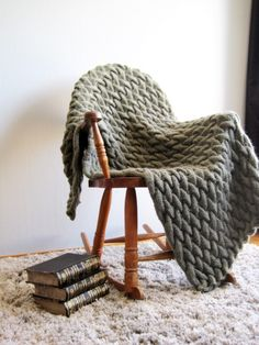 Green Knit Blanket Wool Chunky Knitted Blanket Afghan Throw Blanket Bulky Housewarming Gift Wedding Gift For Couple Cable Knit Hygge Blanket : Chunky Knit Blanket Blanket Knit Throw Throw by woolpleasure Cable Knit Blankets, Cable Knit Throw, Hand Knit Blanket, Chunky Blanket, Knitted Baby Blankets, Knitted Blankets, Wool Blanket, Afghan Blanket, Chunky Knitting Patterns