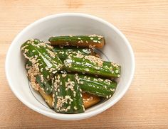Japanese Cucumbers with Sesame dressing - a healthy snack