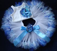 Ocean Blue Birthday Tutu Dress Set por StrawberrieRose en Etsy, $89.95