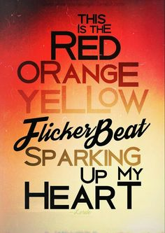 yellow flicker beat