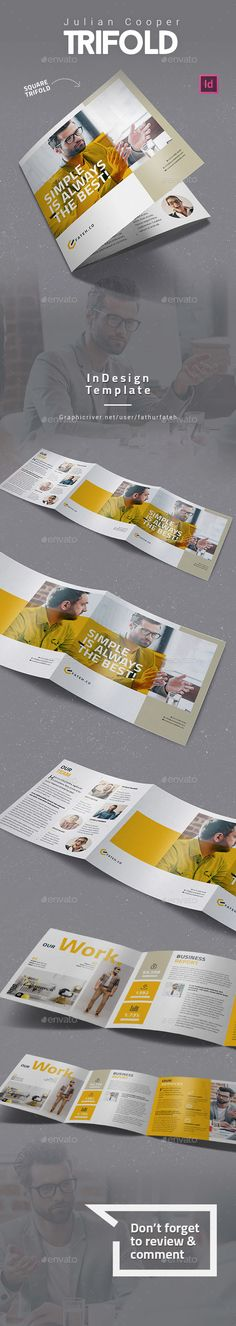 Julian Cooper Square Trifold  — InDesign Template #square trifold #agency • Download ➝ https://graphicriver.net/item/julian-cooper-square-trifold/18490413?ref=pxcr