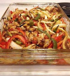 Search result for baked chicken fajitas heart healthy. Easy and delicious homemade recipes. See great recipes for Baked Chicken Fajitas - Heart Healthy too! Oven Baked Fajitas, Baked Chicken Fajitas, Oven Baked Chicken, Baked Chicken Recipes, Recipe Chicken, Chicken Fahitas, Steak Fajitas, Cooked Chicken, Boneless Chicken