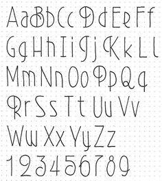 Bullet Journal Font, Journal Fonts, Bullet Journal Ideas Pages, Handwriting Alphabet, Hand Lettering Alphabet, Creative Lettering, Lettering Design, Fancy Writing, Alphabet Style