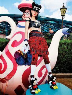 """A Playful Sense of Wonder"" Georgia May Jagger and Chihara by Giampaolo Sgura for Vogue Japan April 2014 Japanese Street Fashion, Tokyo Fashion, Harajuku Fashion, Disney Fashion, High Fashion, Vogue Editorial, Editorial Fashion, Fashion Shoot, Editorial Design"