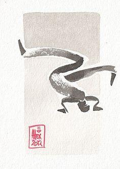 Encres : Capoeira - 199 [ #capoeira #ink #painting ]