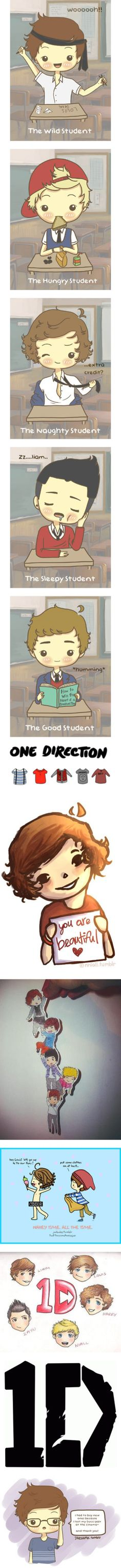 """1D CARTOON"" by hate-me-idc-hate-niall-die ❤ liked on Polyvore"