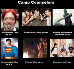 Who people think Summer Camp Counselors are