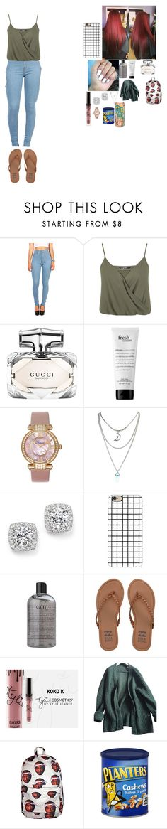 """~ school outfit ~"" by foodislyfe ❤ liked on Polyvore featuring Miss Selfridge, Gucci, philosophy, Chopard, Bloomingdale's, Casetify, Billabong and Prada"