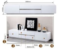 TV-Entertainment-Unit-Modern-High-Gloss-Stand-Cabinet-Buffet-4-Drawers-TV6