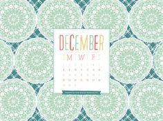 Desktop Wallpaper Calendar – December 2013