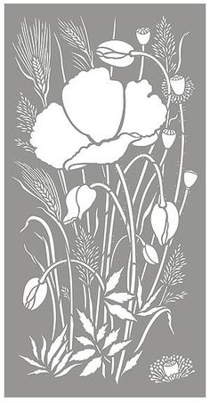 Poppy Stencils Poppy and Wild Grasses Stencil Poppies and Grasses | Sew Patterns | Pinterest | Grasses, Poppies and Stencils