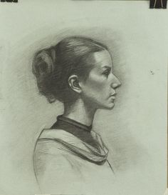 Charcoal portrait by studio Director Gary Adcock.