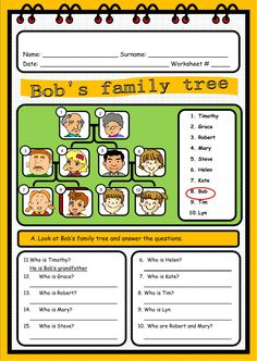 The family interactive and downloadable worksheet. Check your answers online or send them to your teacher.