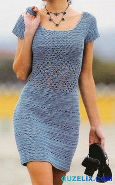 örgü-elbise-kombin-street-style-gray-crochet-dress-@güzelix