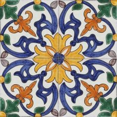Portuguese Tile- great for a kitchen or bathroom!