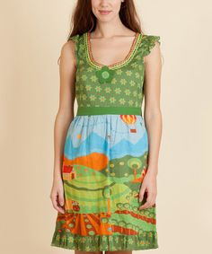 Look what I found on Green Terra Dress - by Rosalita McGee Wild Child, Bohemian Gypsy, Summer Dresses, Aunt, Green, Shopping, Clothes, Style, Fashion