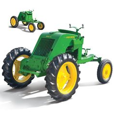 The John Deere EX 101 Full Vision Tractor (1941) - This is a RARE find today as only 5 were known to be in existence.