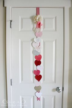 So sweet! During the month of February~ add 1 heart each day with something you love about your child. Each morning they see a new heart!