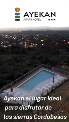 En Ayekan Apart Hotel te estamos esperando para un merecido descanso disfrutando del benéfico clima de las sierras.  Conócelo, es la opción ideal para la familia.  www.ayekan.com.ar