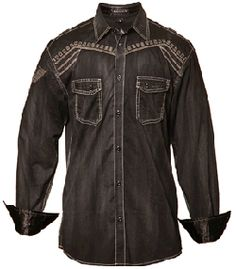military inspired shirt with a vintage wash
